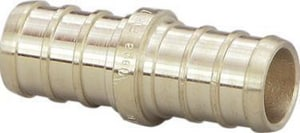 Viega North America 0.023 lbs. Brass Crimp PEX Coupling V46432