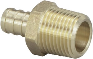 Viega North America ViegaPEX™ MNPT Crimp PEX Adapter in Brass V46366