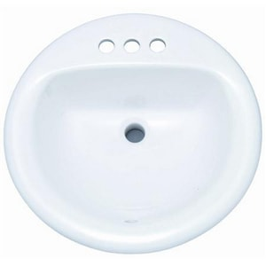 PROFLO® Getchell 19 in. 3-Hole Round Lavatory Steel Sink PFS194R