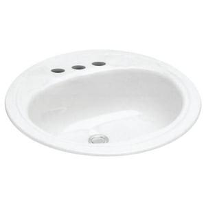 PROFLO® 19 in. 3-Hole Round Lavatory Steel Sink PFS194R