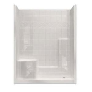 Aquarius Industries Choose Home Millenia 60 x 32 in. Shower with Left Hand Seat in White ACHM6032SH3P1SLP3W