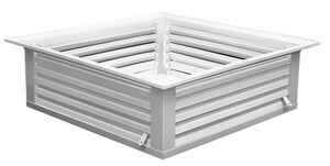 PROSELECT® 24 x 24 in. 4-Way Ceiling Diffuser Box White PSCDBXW2424