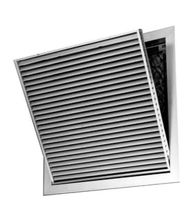 25 in. Aluminum Filter Grille in White with Horizontal Blade PSAH45FGW25