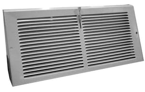 Proselect 10 in. Steel Baseboard Register in White PSBBRD10U