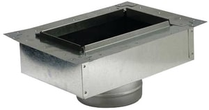 Royal Metal Products 12 x 6 in. Type-B Galvanized Steel Flange Insulated Box with Gasket SHMFIBGR612UN