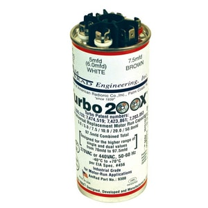 Motors & Armatures Turbo® 200 X 97.5 mfd 370/440V Capacitor MAR12300