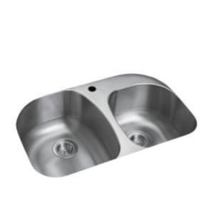 Sterling Plumbing Group Cinch™ Offset Undermount Kitchen Sink in Luster Stainless Steel S11723