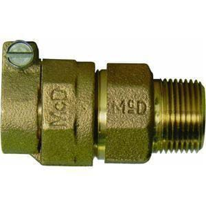A.Y. McDonald 3/4 x 3/4 in. PVC x MIP Brass Straight Coupling M475344F