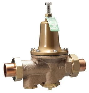 Watts 300 psi 160# Copper Silicon Alloy Solder Union Threaded Water Pressure Reducing Valve WLF25AUBSDUZ3