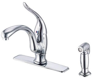 Danze Antioch™ 2-Hole Kitchen Faucet with Single Lever Handle and Spray DD405521