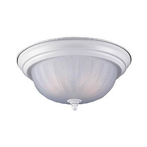 Seagull Lighting Linwood 5-3/4 x 12-3/4 in. 60 W 2-Light Medium Flush Mount Ceiling Fixture S7505