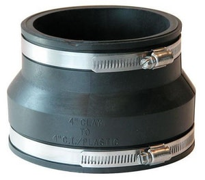 Fernco Clay x Cast Iron and Plastic Flexible Coupling F10021