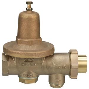 Wilkins Regulator 12 in. Female Copper Sweat Union Pressure Reducing Valve W600XLCK
