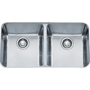 Franke Consumer Products Largo 34 x 19-2/3 in. Double Bowl Under-Mount Kitchen Sink FLAX12034