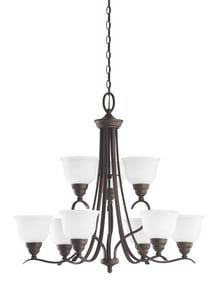 Seagull Lighting Wheaton 100 W 9-Light Medium Chandelier S31627