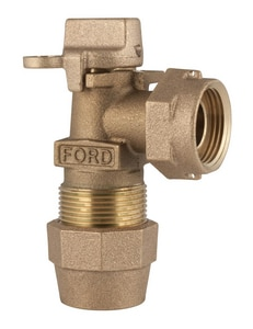 Ford Meter Box 1 in. CTS Grip Joint x Meter Swivel Key Angle Meter Valve FKV43444WGNL