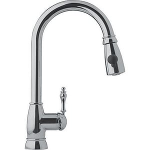 Franke Consumer Products Farm House Pull-Down Kitchen Faucet with Single Lever Handle FFHPD180