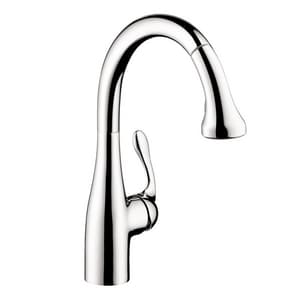 Hansgrohe Allegra® 1.5 gpm Single Lever Handle Spray High Arc Pull-Down Kitchen Faucet H040661