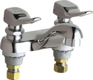 Chicago Faucet 0.5 gpm Double Metering Handle Faucet with Button in Polished Chrome C802VE2805336ABCP