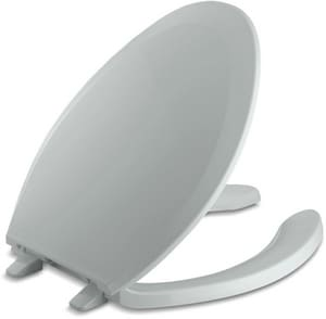 Kohler Lustra™ Plastic Elongated Open Front With Cover Toilet Seat K4650