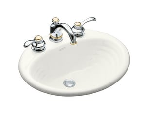 Kohler Ellington® 3-Hole Oval Drop-In Lavatory Sink with 4 in. Centerset K2906-4