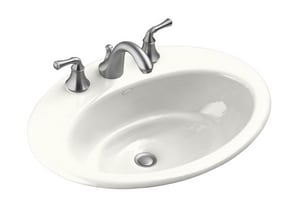 Kohler Radiant® Cast Iron Lavatory Sink with 4 in. Centerset Faucet K2907-4