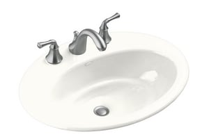 Kohler Thoreau® 3-Hole Drop-In Bathroom Sink K2907-8