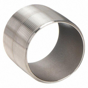 Merit Brass Closed Schedule 80 316L Stainless Steel Seamless Threaded Both Ends Nipple DS86SNKCL