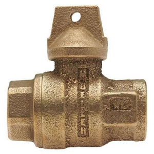 Mueller Industries 3/4 in. FIP Bronze Ball Curb Stop MB20283NF