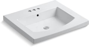 Kohler Persuade® 25-1/4 x 22 in. Vanity-top Bathroom Sink with 4 in. Centerset Faucet Holes K2956-4