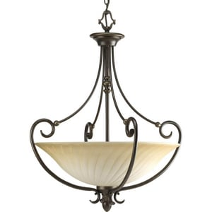 Progress Lighting Kensington 100W 3-Light Inverted Foyer Fixture PP3532