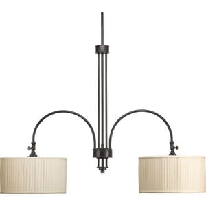 Progress Lighting Clayton 100 W 2-Light Medium Chandelier PP440084
