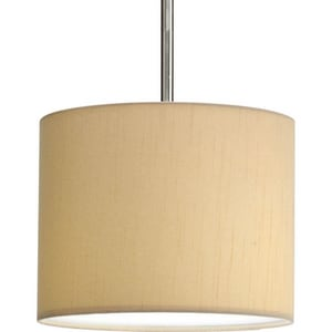 Progress Lighting Markor 10 in. Drum Fabric Shade Beige PP882101