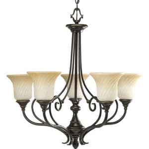 Progress Lighting Kensington 96 in. 100 W 5-Light Medium Chandelier PP423877