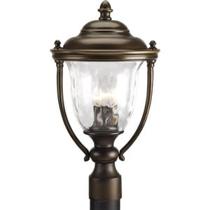 Progress Lighting Prestwick 60W 120V 3-light Candelabra E-12 Large Post Lantern PP5484