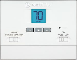 PROSELECT® 2H/1C Non-Programmable Battery Operated Thermostat PSTS21NP