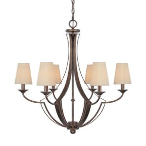 Capital Lighting Fixture Soho 28-3/4 in. 60 W 6-Light Candelabra Chandelier C4336RT523