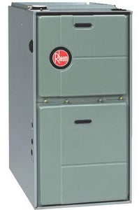 Rheem RGTM Series 21 in. 95% AFUE 4 Ton Two-Stage Downflow and Horizontal 3/4 hp Natural or LP Gas and AC Furnace RGTMERBGS