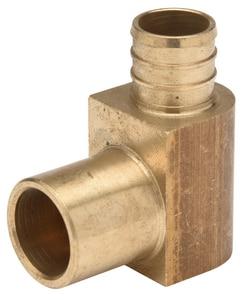 Qest Male Sweat x Barbed Brass 90 Degree Elbow QQQE675GX
