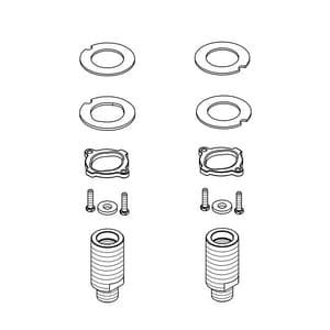 PROFLO 4 Centerset Lavatory Extension Kit Pair PFX4LAVEXT
