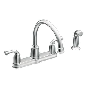 Moen Banbury® 1.5 gpm 2-Handle Kitchen Sink Faucet 1/2 in. IPS Connection MCA87553