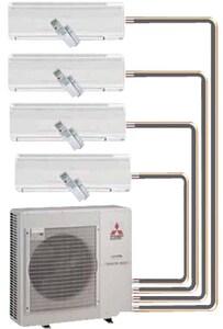 Mitsubishi Electronics USA 36000 BTU 16 SEER Dual Zone Outdoor Condenser MMXZ4BNA