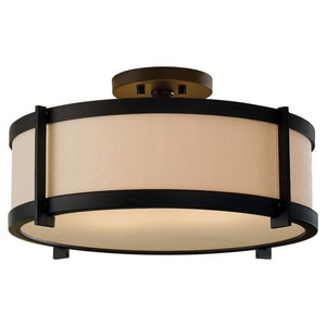 Murray Feiss Industries Stelle 8-1/4 x 13 in. 100 W 2-Light Medium Semi-Flush Mount Ceiling Fixture in Oil Rubbed Bronze MSF272ORB