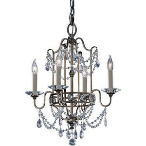 Murray Feiss Industries Gianna 16-1/4 in. 60 W 4-Light Candelabra Chandelier MF24764