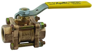 Apollo Conbraco 82-200 Series 400 psi 3-Piece Bronze Threaded Full Port Ball Valve with Lever Handle A82A1401