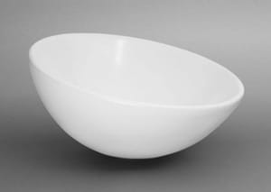 Ronbow Contemporary Sloped Rim Ceramic Vessel without Overflow R200043WH