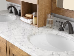 Ronbow WideAppeal™ 6-Hole Marble Vanity with Double Vessel R3011618D