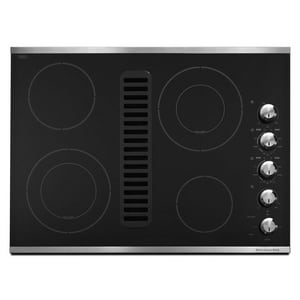 Kitchenaid Architect® 30 in. 4-Burner Downdraft Electric Cooktop KKECD807X