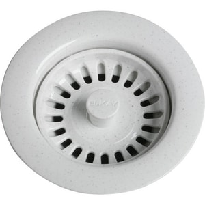 Elkay 4-1/2 in. Drain Fitting with Basket and Rubber Stopper ELKS35