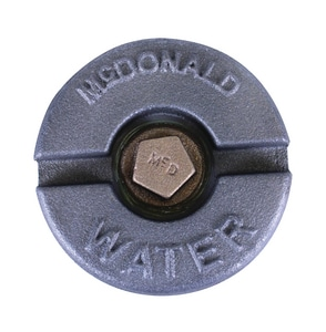 A.Y. McDonald IPT Tap-On Pipe Lid Curb Box with Plug M56L